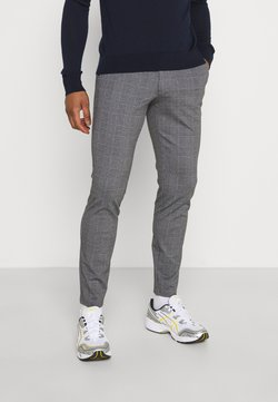 Only & Sons - ONSMARK TAP PANT CHECK - Stoffhose - black