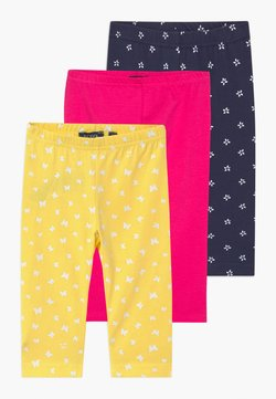Blue Seven - SMALL GIRLS STARS 3 PACK - Leggings - yellow/navy/pink