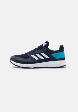 adidas Performance - FORTAFAITO UNISEX - Laufschuh Neutral - collegiate navy/footwear white/signal cyan