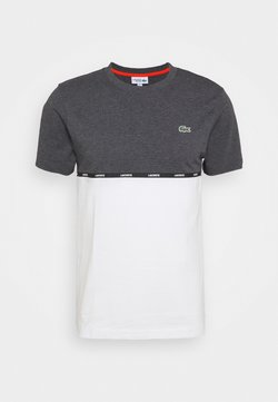 Lacoste Sport - T-shirt con stampa - pitch chine/flour gladiolus