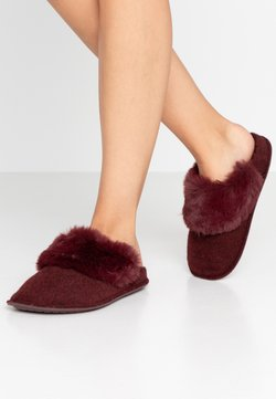 Crocs - CLASSIC LUXE SLIPPER  - Chaussons - burgundy