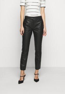 2nd Day - BARROW THINK TWICE - Pantalon en cuir - black