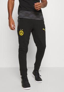 Puma - BVB BORUSSIA DORTMUND CASUALS PANTS - Vereinsmannschaften - black