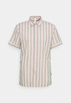 Scotch & Soda - RELAXED FIT SHORT SLEEVE SAILOR  - Hemd - salmon/blue