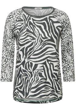 Cecil - MIT ANIMAL PRINT - Bluse - weiß