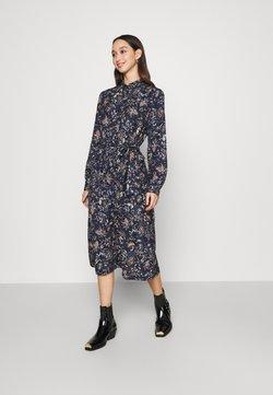 Vero Moda - VMLALLIE CALF DRESS  - Skjortekjole - navy blazer