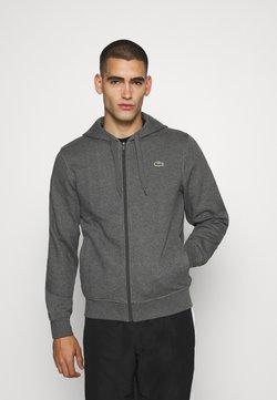 Lacoste Sport - CLASSIC HOODIE JACKET - Sweat à capuche - pitch chine/graphite sombre