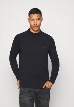 Calvin Klein - MINI MOCK - Pullover - black