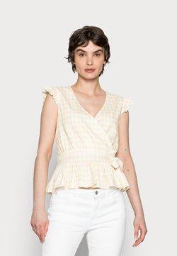 NAF NAF - OGARANCIA - T-Shirt print - moutarde/ecru