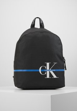 Calvin Klein Jeans - MONOGRAM STRIPE BACKPACK - Reppu - black