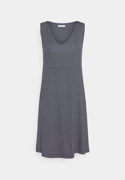 TOM TAILOR - DRESS EASY SHAPE - Jerseykleid - navy/white