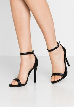 Missguided - BASIC BARELY THERE - Sandalias de tacón - black