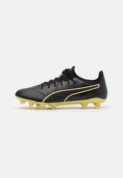 Puma - KING PRO FG - Moulded stud football boots - black/team gold