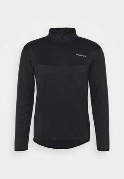 Endurance - LEDGER WAFFLE MIDLAYER - Sweatshirts - black