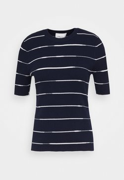 3.1 Phillip Lim - STRIPED - T-Shirt print - navy/white
