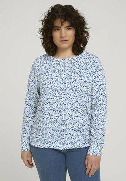 MY TRUE ME TOM TAILOR - PLEATED NECKLINE - Bluse - blue aquarelle dots