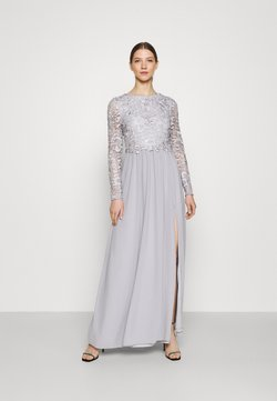 Nly by Nelly - LACE TRIM GOWN - Galajurk - pearl grey
