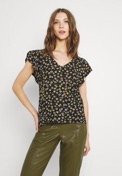JDY - JDYGITTE SVANS V NECK - T-Shirt print - black/yellow