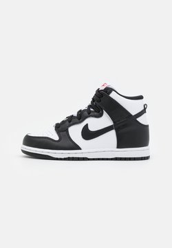Nike Sportswear - DUNK UNISEX - Sneakersy wysokie - white/black/university red