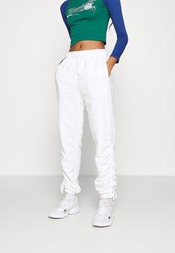 Topshop - RUCHED - Jogginghose - white