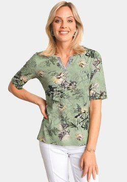ATELIER GS - T-Shirt print - lindgrün/gemustert