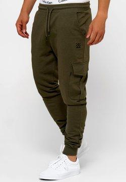 INDICODE JEANS - Spodnie treningowe - army mix