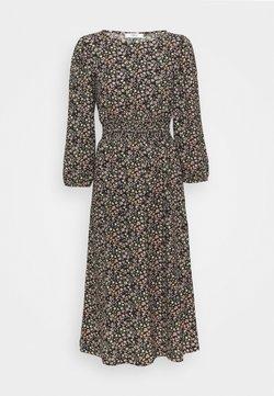 ONLY Petite - ONLZILLE SMOCK MIDI DRESS - Day dress - black