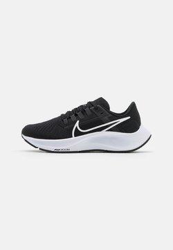 Nike Performance - AIR ZOOM PEGASUS 38 - Juoksukenkä/neutraalit - black/white/anthracite/volt
