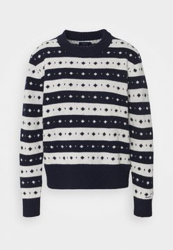 GANT - STRIPED FAIRISLE CREW - Maglione - evening blue