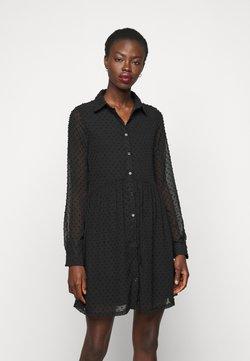 Missguided Tall - DOBBY SPOT SMOCK DRESS - Blusenkleid - black