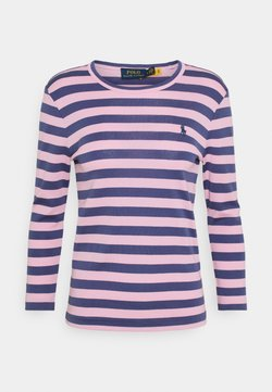 Polo Ralph Lauren - STRIPE LONG SLEEVE - Bluzka z długim rękawem - hint of pink