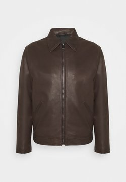 Trussardi - JACKET REGULAR FIT - Leren jas - seal brown