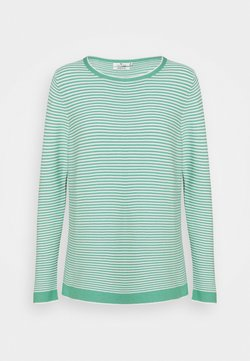 TOM TAILOR - SWEATER NEW OTTOMAN - Strickpullover - green/white