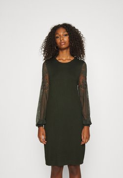 ONLY - ONLVIKTORIA DRESS - Stickad klänning - rosin