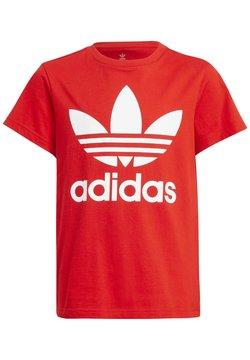 adidas Originals - TREFOIL - T-shirt imprimé - red/white