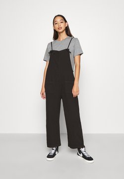 Monki - MONA DUNGAREES - Salopette - black dark
