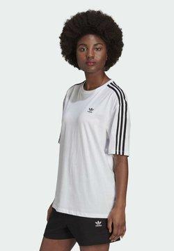 adidas Originals - OVERSIZED ADICOLOR RELAXED - T-Shirt print - white