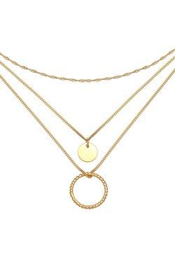 Elli - LAYER LOOK CIRCLE - Halskette - gold