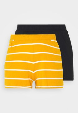 ONLY - ONLMAY LIFE STRIPE 2PACK  - Shorts - black/golden spice