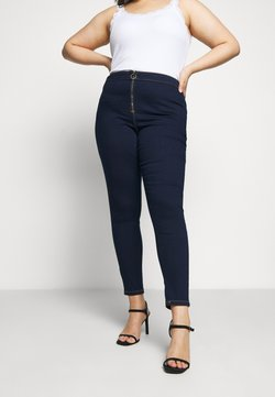Missguided Plus - RING ZIP OUTLAW - Jegging - deep blue