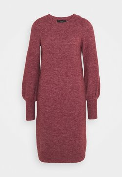 Vero Moda Tall - VMSIMONE O NECK DRESS - Jumper dress - cabernet melange