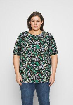 ONLY Carmakoma - CARANEMONY TOP - T-Shirt print - black