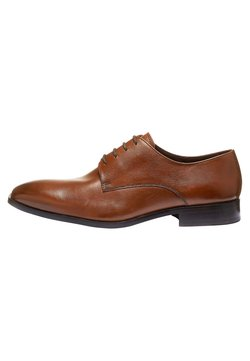 Next - TAN SIGNATURE TEXTURED DERBY SHOES - Business-Schnürer - brown