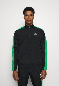 adidas Performance - SET - Trainingsanzug - black/black/vivgreen