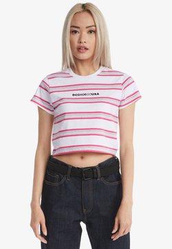 DC Shoes - T-shirt print - white fuchsia stripe
