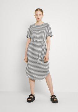 Vero Moda - VMALONA 2/4 CALF DRESS - Jerseykleid - navy blazer/white