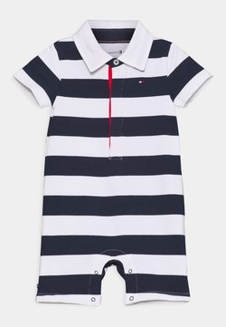 Tommy Hilfiger - BABY RUGBY STRIPE SHORTALL UNISEX - Combinaison - twilight navy