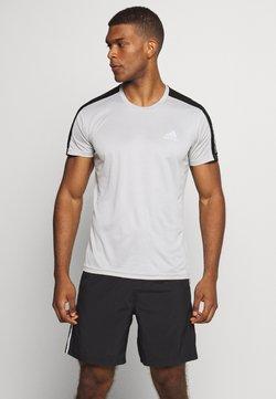 adidas Performance - RESPONSE RUNNING SHORT SLEEVE TEE - Camiseta estampada - grey/silver