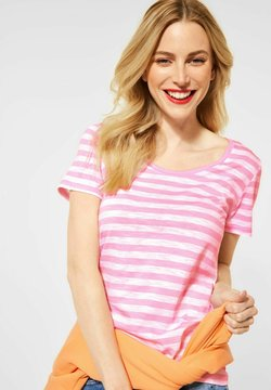 Street One - IM STREIFEN - T-Shirt print - rosa