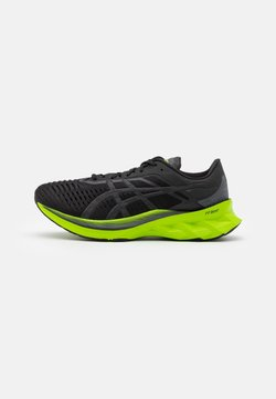 ASICS - NOVABLAST - Zapatillas de running neutras - black/lime zest